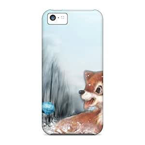 MickyGarcia Iphone 5c Hybrid Cases Covers Bumper Foxy Winter Friends