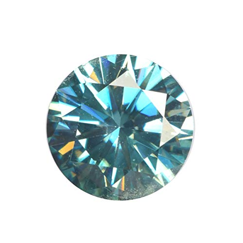 Egl Certified Green Moissanite Diamond 2.60 Ct Ring Size Round Brilliant Cut Moissanite Loose Gemstone for Jewelery ()