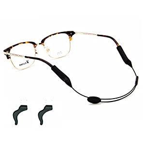 Yalex Eyeglasses Strap Adjustable Eyewear Lanyard Sports Eyeglasses Anti - slip Hooks Anti (black)