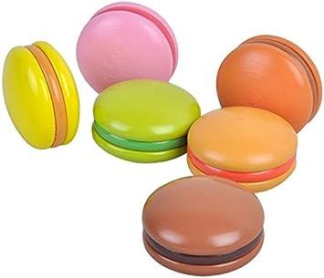 Juguete en madera - 6 Macarons presentados en cajita - Medidas caja: 16 x 10 x 5 cm - Alimentos de juguete: Amazon.es: Juguetes y juegos