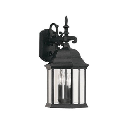 Designers Fountain 2981-BK 9-1/2 Cast Wall Lantern Devonshire