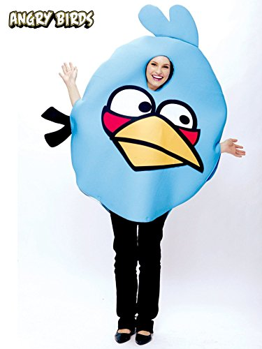 Mens Bird Costumes (Angry Birds Adult Costume Blue - Standard)