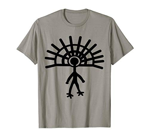 (Ancient Astronaut T-Shirt Alien Petroglyph Cave Rock Art Tee)