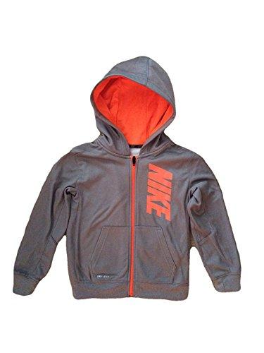 Nike Boys Therma Fleece Hoodie (5 years, Grey/Mango)