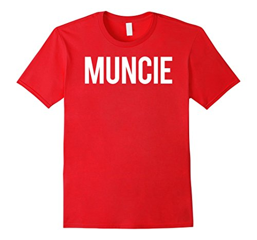 Mens Muncie T Shirt Cool Indiana IN funny cheap gift tee Medium Red