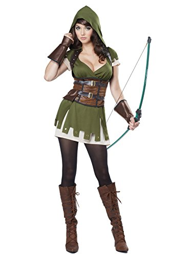 California Costumes Women's Lady Robin Hood, Olive/Brown, Small