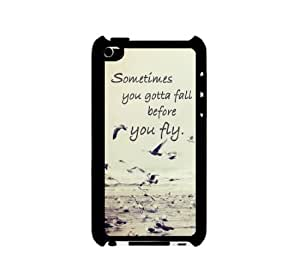 I Pod 4 Touch Case Thinshell Case Protective I Pod 4G Touch Case Shawnex Sometimes You Gotta Fall Quote Ocean