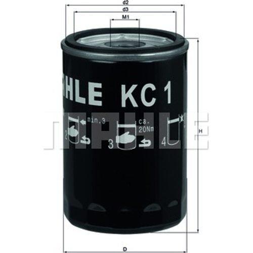 Mahle Siervo filtro KC1/filtro de combustible