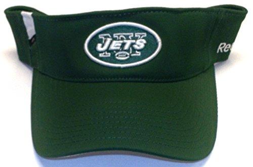 NEW York Jets Adjustable Velcro Strap Reebok Visor - (Reebok Nfl New York Jets)