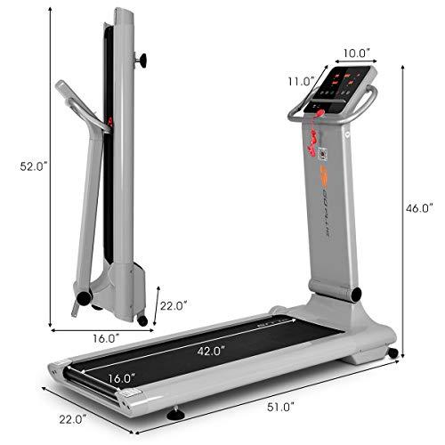 Goplus 1.5HP Electric Folding Treadmill Portable Motorized Running Machine Home Gym Cardio Fitness w/App (Silver) by Goplus (Image #8)