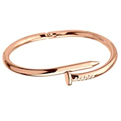 item type:BangleMaterial:AlloyWarm TipsAvoid friction and hard objects to avoid scratches. Do not wear jewelry during exercise,bathing and swimming.When not wearing jewelry,you should store it in a lined jewelry box or pouch.About usWe are ma...