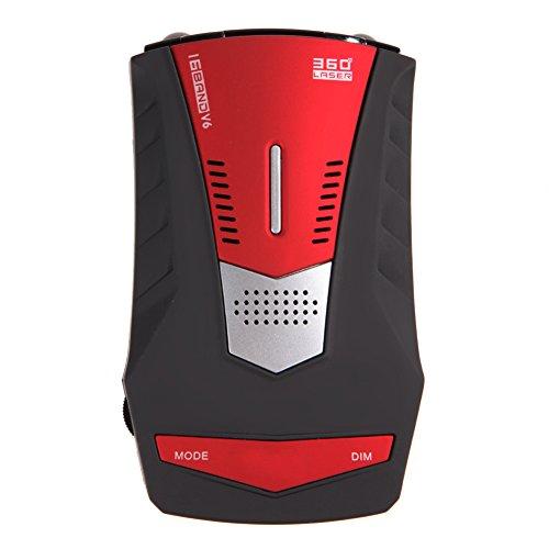 Radar Detector 16 Band Car Electronic 360 Degree Detect, Led Display,plastic Housing. 10.3cm6cm3.4cm