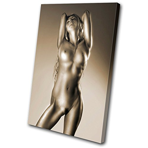 Bold Bloc Design - Erotic Sexy Female NUDES - 120x80cm Canvas Art Print Box Framed Picture Wall Hanging - Hand Made In The UK - Framed And Ready To (Nude Art Poster)