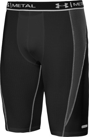 Under Armour Metal Long Compression Short - Mens ( sz. M, Black ) (Under Armour Ice Compression Short)