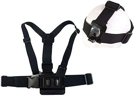حزام للراس مع اشرطة قابلة للتعديل وحزم صدر مع ابزيم بلاستيكي لكاميرات جو برو 3 2