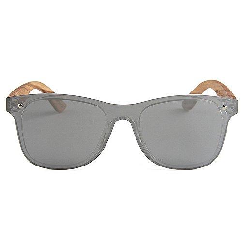 Yxsd Bois 400 Polarisées Green Protection de Cadre Silver Couleur en Printemps Soleil lentille Lunettes Charnière Unisexes UV rq8xPrw4