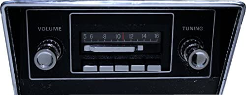 Custom Autosound Stereo compatible with 1967-1973 Mustang, 300 watt Slidebar AM FM Car Stereo Radio