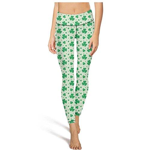 - juiertj rt Long Exercise Lucky Grass Leggings Women's Skinny Activewear Yoga Pant