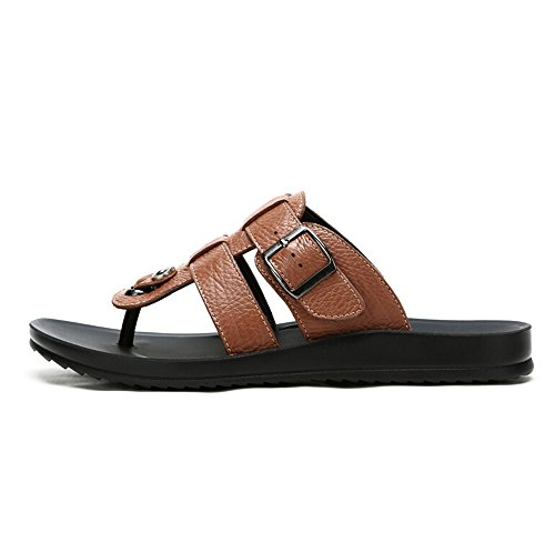 Camel Mens Casual In Pelle Flip-flop Color Marrone Taglia 41 M Eu