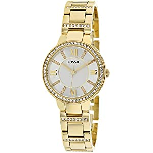 Fossil Women's Virginia Stainless Steel Watch, Color: Gold-Tone(Model: ES3283)