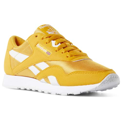 online store 0b449 5db94 Reebok Classic Nylon Sneaker, Trek Gold/White, 5 M US
