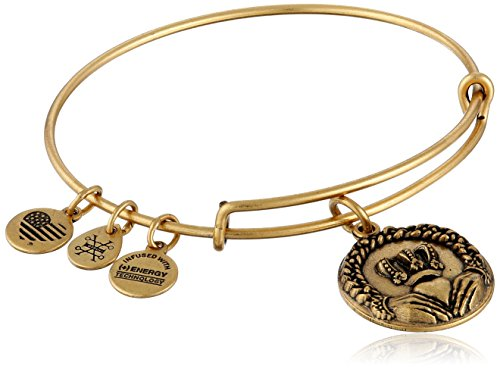 - Alex and Ani Claddagh II Expandable Rafaelian Gold Bangle Bracelet