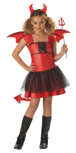 [California Costume Collection Girls Devil Darling Child Costume Black/red Small] (Red Devil Child Costume)