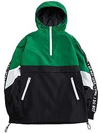 2abd74920e86 Mens Pullover Hooded Waterproof Lightweight Windbreaker Jackets