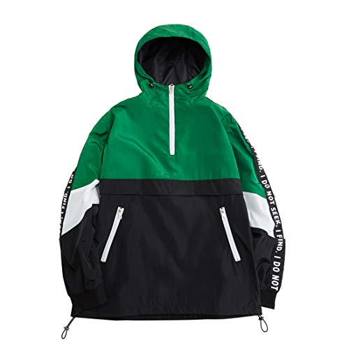 Hzcx Fashion Mens Pullover Hooded Waterproof Lightweight Windbreaker - Lightweight Windbreaker Hooded