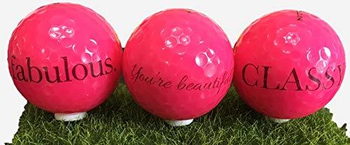 USADesign レディースゴルフボール 素晴らしいルッキングを楽しむ女性向け 素晴らしく、上品で美しい。ギフトラップオプションもご用意しています。 B07GXZ8YVK