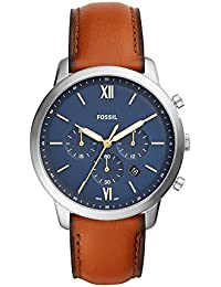 Men's 'Neutra Chrono' Quartz Stainless Steel and Leather Casual Watch, Color:Brown (Model: FS5453)