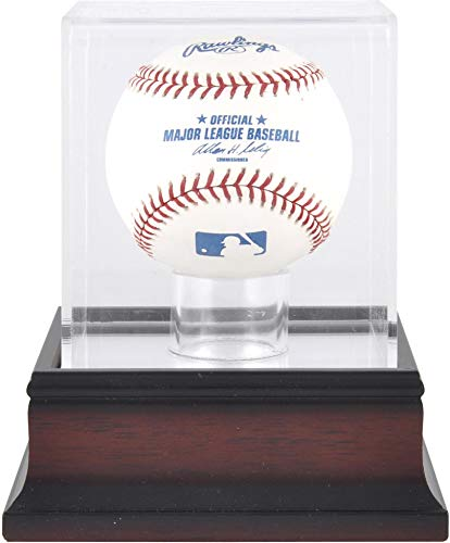 Mounted Memories Antique Mahogany Baseball Display Case