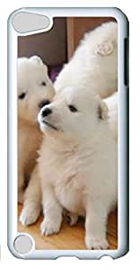 Fashion Customized Case for iPod Touch 5 Generation Cool White Plastic Case Back Cover for iPod Touch 5th with Cute Dog