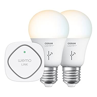 WeMo F5Z0596 Osram Lightify Tunable White Starter Set, Wi-Fi Enabled and App Controlled (Discontinued by Manufacturer)