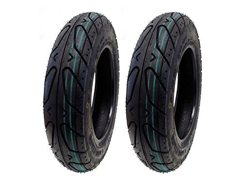 Keeway Hurricane (SET OF TWO: Scooter Tubeless Tire 3.50-10 For KEEWAY Easy, Flash, Hurricane, Pixel, Swan, Venus also fits other 50cc)