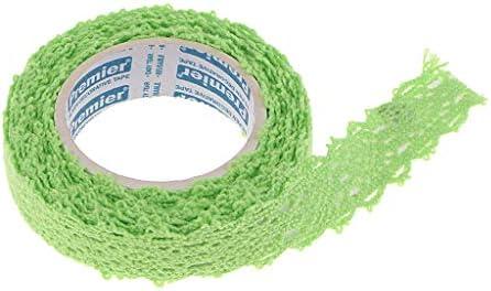 和紙テープ レース 装飾テープ セット クラフト 工芸品 アクセサリー 全8色 - 緑