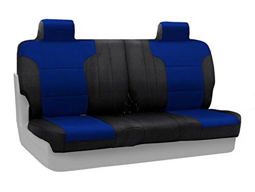 Split Front Bench Seat - Coverking Custom Fit Front Split Bench Seat Cover for Select Ford F-150 Models - Spacermesh (Blue)