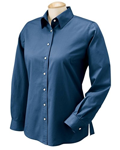 Chestnut Hill Womens Oxford Singles Twill Dress Shirt Ch500W (X-Large / New Navy)