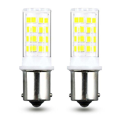 Klarlight LED BA15S Bulb 1156 1141 1003 1073 Single Contact Replacement Light Bulbs Bayonet Base 12V Car Signal Turn Tail Brake Lights, AC/DC 10-18V, Warm White ()