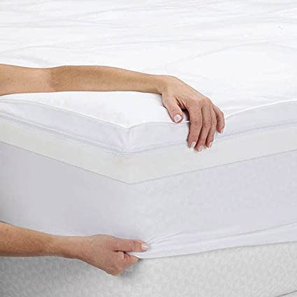 Amazon Com Memory Foam Mattress Topper 4 Dual Layer Therapeutic