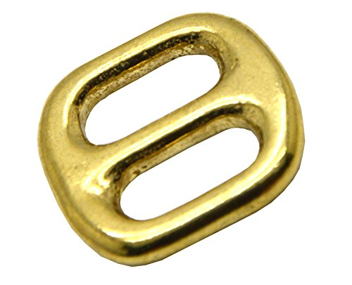 Okones Pack of 6 Pcs,1/2''(12mm) Solid Brass Rectangle Buckle Loop Belt Ring Strap Keeper for Backpack Bag Accessories (insides 1/2'')