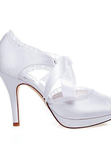 4 3 Chaussures De mariage 4in A blanc Ouvert Mariage Ggx amp; 4in Plateau Bout Evénement Habillé Soirée sandales white talons homme pTUwW
