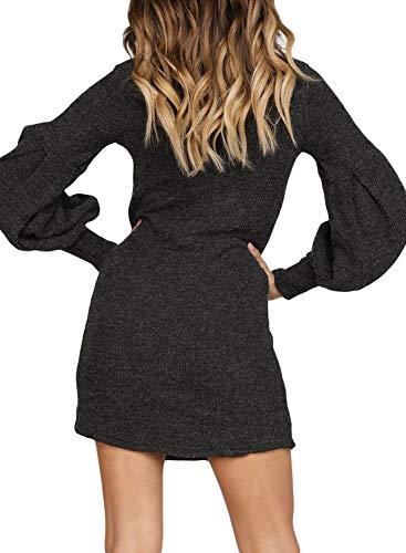 6c7e228bfe6 Mua Azokoe Womens Casual Loose Heap Collar Mini Knit Sweater Dress ...