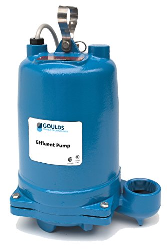 Goulds WE0511HH Submersible Effluent Pump, 1/2 HP, Single Phase, 115 V, 14.5 Max Amps by Goulds