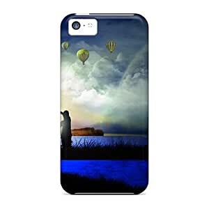 Awesome Lovers Flip Cases With Fashion Design For Iphone 5c