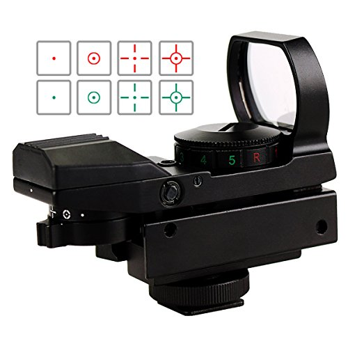 SVBONY Red and Green Dot Sight Airsoft Sights 4 Reticles 5 Brightness Levels with Camera Mount for Outdoor Target Viewing Hunting Bird Watching