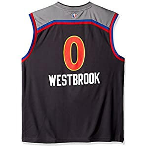adidas NBA Men's Oklahoma City Thunder Russell Westbrook 2017 All-Star Replica Jersey, 2X-Large, Gray