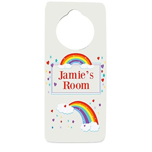 Personalized Rainbow Door Hanger