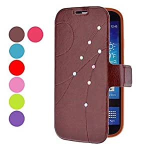 S Line Pattern Full Body Case with Rhinestone for Samsung Galaxy S4 I9500 (Assorted Colors) --- COLOR:Purple