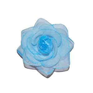Squishy Pet Products Sprinkles Collar Accessories, Blue Skies Glitter Rose, 3-Inch, Blue Glitter Rose